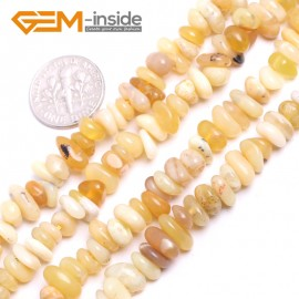 "G15221 3x7-6x10mm Yellow Jade Freeform Potato Shape Gemstone Loose Beads Strand 15""Free Shipping Natural Stone Beads for Jewelry Making Wholesale`"