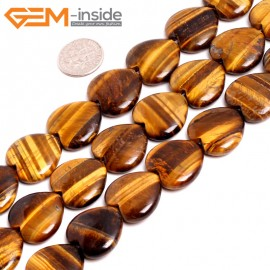 """G15243 20mm Heart Yellow Tiger Eye  Loose Stone Beads Gemstone Strand 15"""" Natural Stone Beads for Jewelry Making Wholesale"""