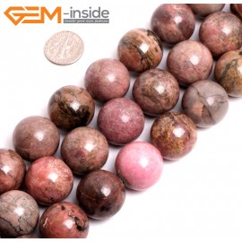"""G15264 20mm Round Pink Natural Rhodonite Loose Beads Gemstone Strand 15 """" Natural Stone Beads for Jewelry Making Wholesale"""