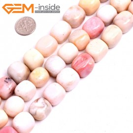 "G15276 12x16mm Rectangle Natural Pink Opal Loose Beads Gemstone Strand 15 "" Natural Stone Beads for Jewelry Making Wholesale"