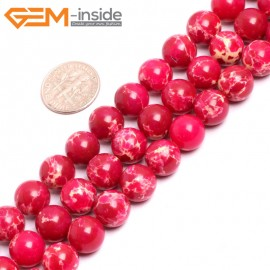 "G15333 10mm Round Magenta Sea Sediment Jasper Beads Dyed Color 15"" Beads for Jewelry Making Wholesale"