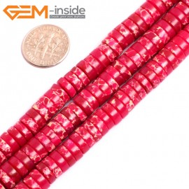 "G15437 4x8mm Column Magenta Sea Sediment Jasper Beads Dyed Color 15"" Beads for Jewelry Making Wholesale"