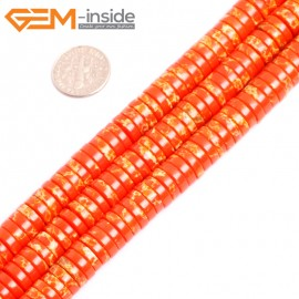 """G15444 4x10mm Column Orange Sea Sediment Jasper Beads Dyed Color 15 """" Beads for Jewelry Making Wholesale"""