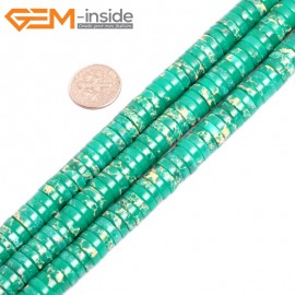 """G15448 4x10mm Column Green Sea Sediment Jasper Beads Dyed Color 15"""" Beads for Jewelry Making Wholesale"""