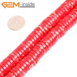 """G15454 4x12mm Column Red Sea Sediment Jasper Beads Dyed Color15 """"  Beads for Jewelry Making Wholesale"""