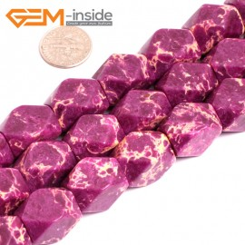 """G15485 13x18mm Column Faceted Purple Sea Sediment Jasper Beads Dyed Gemstone 15"""" Stone Beads for Jewelry Making Wholesale"""