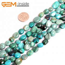 """G15592  10x12mm Potato Freefrom African Turquoise Gemstone Strand 15"""" Stone Beads for Jewelry Making Wholesale"""