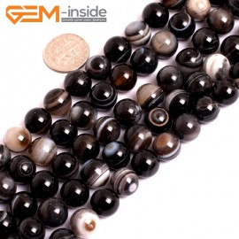 "G15596  10mm DZI Natural Sardonyx Onyx Agate Gemstone Strand 15"" Natural Stone Beads for Jewelry Making Wholesale"