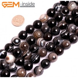 "G15597  12mm DZI Natural Sardonyx Onyx Agate Gemstone Strand 15"" Natural Stone Beads for Jewelry Making Wholesale"