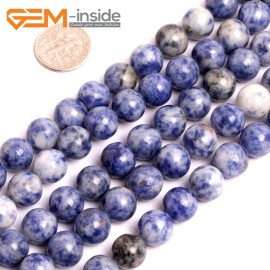"""G15629 10mm Natural Sodalite Gemstone Strand 15"""" Natural Stone Beads for Jewelry Making Wholesale"""