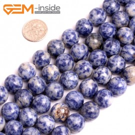 """G15630 12mm Natural Sodalite Gemstone Strand 15"""" Natural Stone Beads for Jewelry Making Wholesale"""