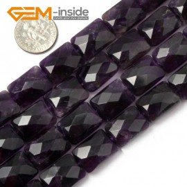 """G1577 12x16mm Rectangle Faceted Amethyst Gemstone Jewelry Making Loose Beads 15"""" Free Shipping Natural Stone Beads for Jewelry Making Wholesale"""