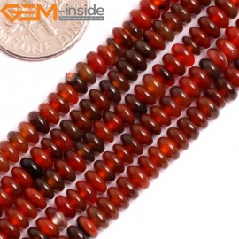 """G15823 2x4mm Natural  Red Dream Agate Heishi Spacer Beads Strand 15"""" Natural Stone Beads for Jewelry Making Wholesale"""