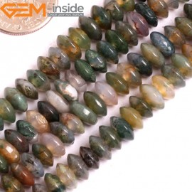"G15833 3x6mm Natural Heishi Indian Agate Spacer Beads Strand 15"" Natural Stone Beads for Jewelry Making Wholesale"