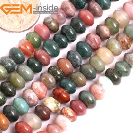 "G15835 3x6mm Natural Heishi Indian Agate Spacer Beads Strand 15"" Natural Stone Beads for Jewelry Making Wholesale"