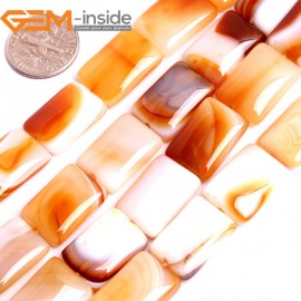 """G15841 13x18mm Rectangle Natural Persian Striped Botswana Agate Strand 15"""" Natural Stone Beads for Jewelry Making Wholesale"""