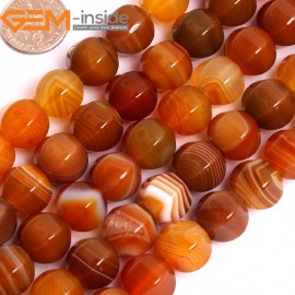 """G15846 12mm Lantern Faceted Natural Persian Striped Botswana Agate Strand 15"""" Natural Stone Beads for Jewelry Making Wholesale"""