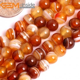 "G15851 6mm Round Natural Persian Striped Botswana Agate Strand 15"" Natural Stone Beads for Jewelry Making Wholesale"
