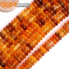 """G15870 2x6mm Heishi Natural Red Carnelian Agate Spacer Beads Strand 15"""" Natural Stone Beads for Jewelry Making Wholesale"""