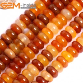 "G15874 5x10mm Rondelle Natural Red Carnelian Agate Spacer Beads Strand 15"" Natural Stone Beads for Jewelry Making Wholesale"