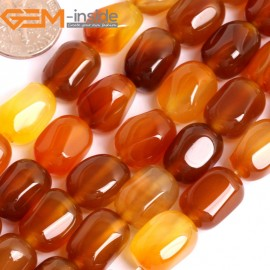 "G15876 8x14mm Rectangle Freefrom Natural Red Carnelian Agate Spacer Beads Strand 15"" Natural Stone Beads for Jewelry Making Wholesale"