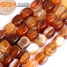 "G15877 8x8mm Drak Natural Persian Striped Botswana Agate Strand 15"" Natural Stone Beads for Jewelry Making Wholesale"