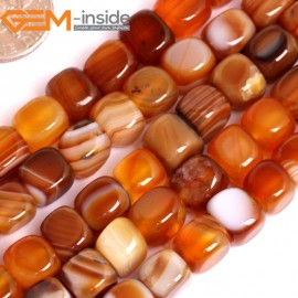 "G15878 8x8mm Light Natural Persian Striped Botswana Agate Strand 15"" Natural Stone Beads for Jewelry Making Wholesale"