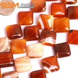 "G15880 14mm Diagonally Square Natural Persian Striped Botswana Agate Strand 15"" Natural Stone Beads for Jewelry Making Wholesale"