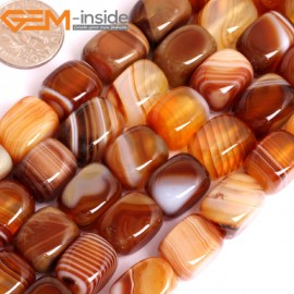"G15881 10x14mm Rectangle Natural Persian Striped Botswana Agate Strand 15"" Natural Stone Beads for Jewelry Making Wholesale"