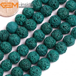 """G15900 8mm Round  Dark Bule Lava Rock Beads Dyed Color 15"""" Beads for Jewelry Making Wholesale"""