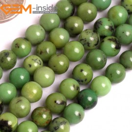 """G15906 6mm Round Green Natural  African Turquoise Stone 15""""  Natural Stone Beads for Jewelry Making Wholesale"""