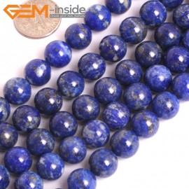 "G16032 10mm Round Natural Blue Lapis lazuli  Gemstone Loose Beads 15"" Natural Stone Beads for Jewelry Making Wholesale"