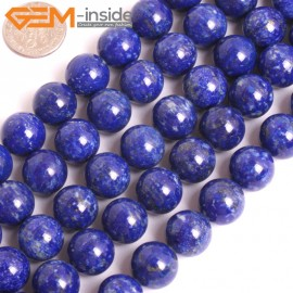 """G16033 12mm Round Natural Blue Lapis lazuli  Gemstone Loose Beads 15"""" Natural Stone Beads for Jewelry Making Wholesale"""