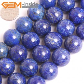 """G16035 16mm Round Natural Blue Lapis lazuli  Gemstone Loose Beads 15"""" Natural Stone Beads for Jewelry Making Wholesale"""