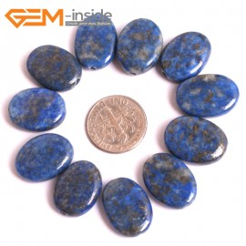 G16036 13x18mm Oval Natural Blue Lapis lazuli  Gemstone Loose Beads 10 Pcs  Natural Stone Beads for Jewelry Making Wholesale