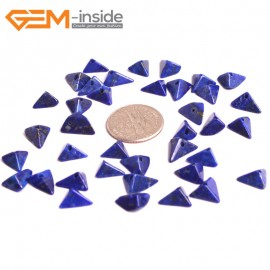 G16043 4x8mm Triangle Natural Blue Lapis lazuli  Gemstone Loose Beads 38 Pcs  Natural Stone Beads for Jewelry Making Wholesale