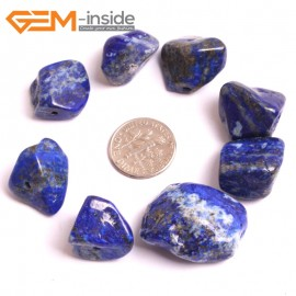G16045  15X20-20X30mm Freefrom Natural Blue Lapis lazuli  Gemstone Loose Beads 8 Pcs  Natural Stone Beads for Jewelry Making Wholesale