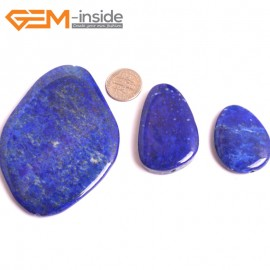 G16046  15X35-55X75mm Freefrom Natural Blue Lapis lazuli  Gemstone Loose Beads 3 Pcs  Natural Stone Beads for Jewelry Making Wholesale