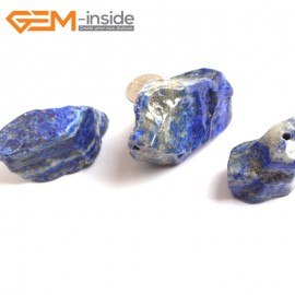 G16047 25X45-30X65mm Freefrom Natural Blue Lapis lazuli  Gemstone Loose Beads 3 Pcs  Natural Stone Beads for Jewelry Making Wholesale