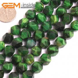 """G16089 10mm Round Faceted Green Tiger Eye Dyed Color Loose Beads 15"""" Stone Beads for Jewelry Making Wholesale"""