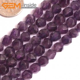 "G16115 6mm Round Faceted Amethyst Gemstone Loose Beads Strand 15"" Natural Stone Beads for Jewelry Making Wholesale"