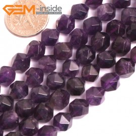 "G16116 8mm Round Faceted Amethyst Gemstone Loose Beads Strand 15"" Natural Stone Beads for Jewelry Making Wholesale"