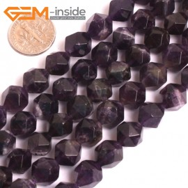 "G16117 10mm Round Faceted Amethyst Gemstone Loose Beads Strand 15"" Natural Stone Beads for Jewelry Making Wholesale"