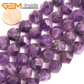 "G16118 12mm Round Faceted Amethyst Gemstone Loose Beads Strand 15"" Natural Stone Beads for Jewelry Making Wholesale"