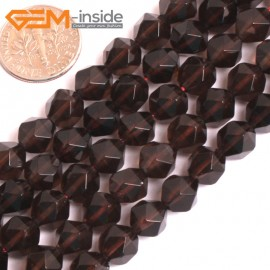 """G16120 8mm Round Faceted Smoky Quartz Crystal Gemstone Loose Beads Strand 15"""" Natural Stone Beads for Jewelry Making Wholesale"""
