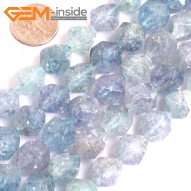 """G16126 12mm Round Faceted Dyed Blue Aquamarine Crystal Loose Beads Strand 15"""" Stone Beads for Jewelry Making Wholesale"""
