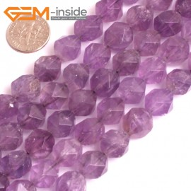"G16133 10mm Round Faceted Light  Amethyst Crystal Loose Beads Gemstone Strand 15"" Natural Stone Beads for Jewelry Making Wholesale"