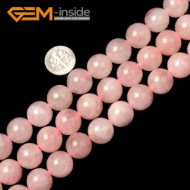 "G1634 14mm Round Rose Quartz  Beads Jewelry Making Gemstone Loose Beads Strand 15""Gbeads Natural Stone Beads for Jewelry Making Wholesale"