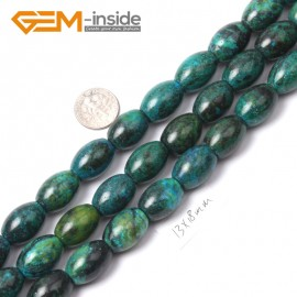 "G1740 13x18mm Olivary Gemstone Chrysocolla Beads Jewelry Making Stone Loose Beads Strand 15"" Natural Stone Beads for Jewelry Making Wholesale"