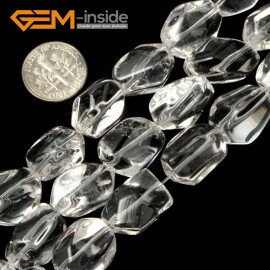 """G1871 12x16mm GBeads Freefrom Gemstone Crystal White Clear Quartz DIY Jewelry Making Beads15"""" Natural Stone Beads for Jewelry Making Wholesale`"""